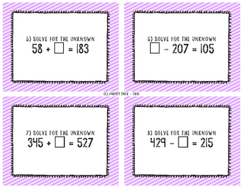 Addition and Subtraction Task Cards *FREEBIE!*