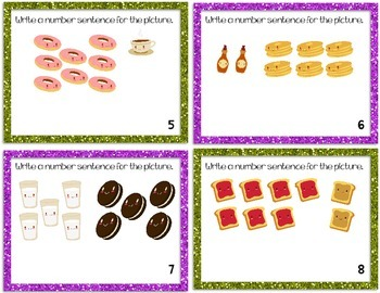Addition and Subtraction Task Cards- For Write the Room, Games, and Centers