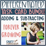 Addition and Subtraction Task Cards Growing Bundle