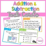 Addition and Subtraction Task Cards- 1st Grade Problem Sol