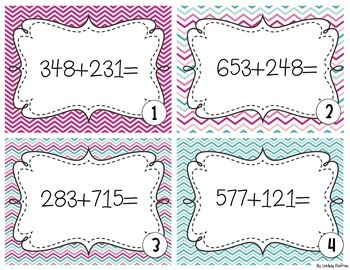 Addition and Subtraction Task Cards *NBT.2*