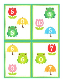 Addition and Subtraction Task Cards (Number Bonds Included)