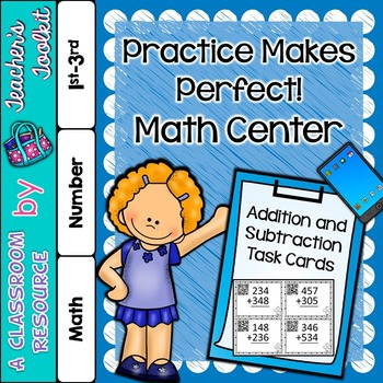Addition and Subtraction Task Cards QR Codes {UK Teaching