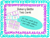 Addition and Subtraction Task Cards/ Suma y Resta Tarjetas de Practica