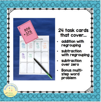 Addition and Subtraction Task Cards TEKs 3.4A