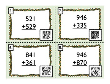 Addition and Subtraction Task Cards with QR Codes