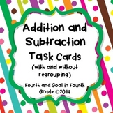 Addition and Subtraction Task Cards (with & without regrouping)