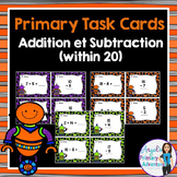 Addition and Subtraction Task Cards (within 20)