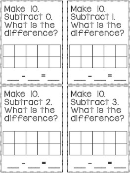 Addition and Subtraction Ten Frame Cards K.OA.A.1-2