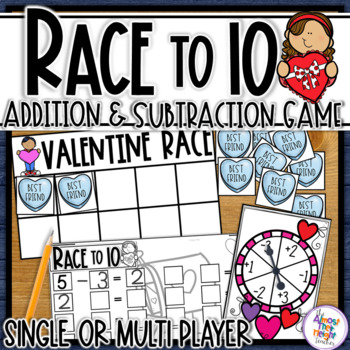 Addition and Subtraction to 10 - a Valentine themed Tens F