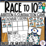 Winter Addition and Subtraction a Tens Frame Game adding and subtracting 0-3