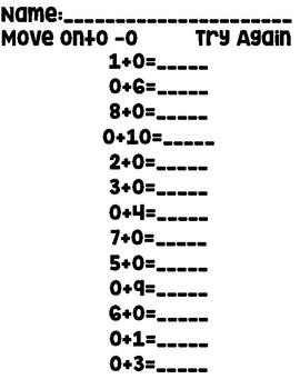Addition and Subtraction Test