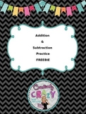 Addition and Subtraction Test Prep and Review FREEBIE