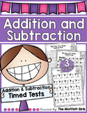 Addition and Subtraction Tests (3 Versions)!