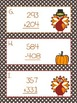 Addition and Subtraction Thanksgiving  Scavenger Hunt