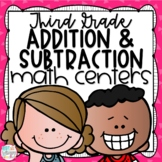 Addition and Subtraction Third Grade Math Centers