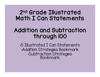 Addition and Subtraction Through 100 Math I Can Statements