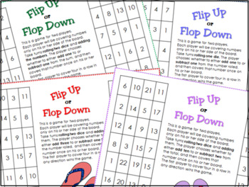 Addition and Subtraction Through 20 - Flipflops!