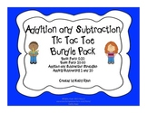 Addition and Subtraction Tic Tac Toe Bundle Pack