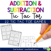 Addition and Subtraction Tic Tac Toe Games