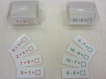 """Addition and Subtraction """"Tickets""""  {Montessori operation colors}"""