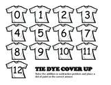 Addition and Subtraction Tie Dye Cover Up
