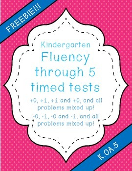 Addition and Subtraction Timed Fluency Tests #0-5