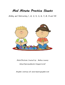 Addition and Subtraction (Timed Practice) Mad Minute