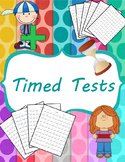 Addition and Subtraction Timed Test (0-12) and Mixed