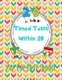 Addition and Subtraction Timed Tests Within 20