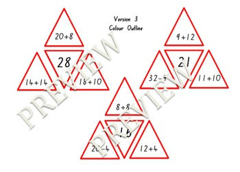 Addition and Subtraction Triangle Puzzles