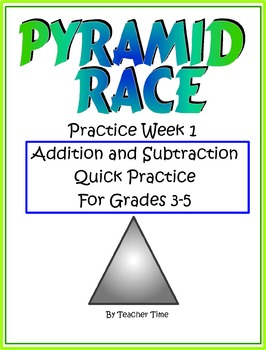 Addition and Subtraction Triple Digit Practice for 1 Week