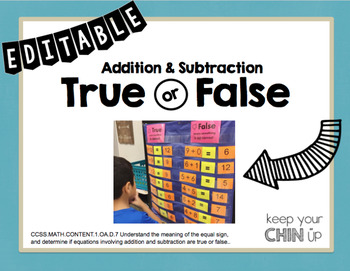 Addition and Subtraction True or False {EDITABLE}