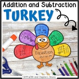 Addition and Subtraction Turkey Craft