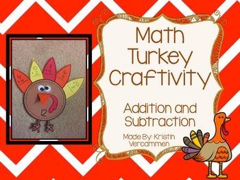 Addition and Subtraction Turkey Craftivity
