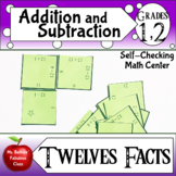Addition and Subtraction - Twelves Facts Math Center Activity