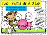 Addition and Subtraction - Two Truths and a Lie