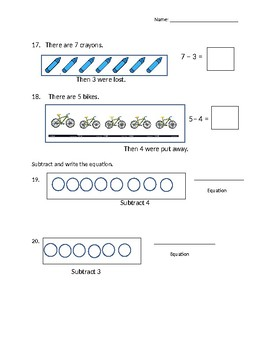Addition and Subtraction Unit Review - 1st Grade