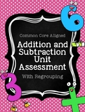 Addition and Subtraction Unit Test With Regrouping