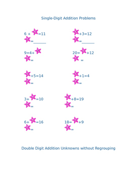 Addition and Subtraction Unknowns
