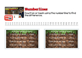 Addition and Subtraction Using Number Lines (Minecraft Maths)