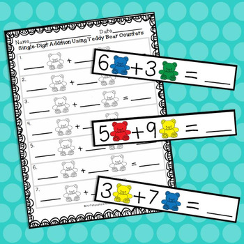 Addition and Subtraction Using Teddy Bear Counters BUNDLE