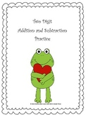 Addition and Subtraction-Valentine's