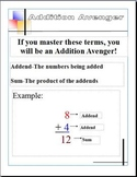 Addition and Subtraction Visual