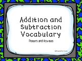 Addition and Subtraction Vocabulary Activities