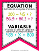 Addition and Subtraction Vocabulary Bunting 4th Grade by Marvel Math