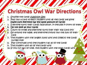Addition and Subtraction War-Christmas Themed-Common Core Aligned-2nd Grade