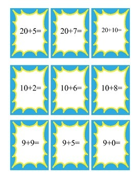 Addition and Subtraction War Game