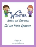 Addition and Subtraction Winter Equations