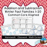 Addition and Subtraction Winter Fact Families 1-20  Common Core Aligned